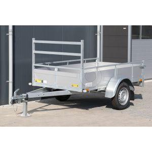 Twins Trailers aluminium open bakwagen 225x132cm enkelas 750kg ongeremd