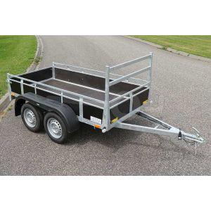 Twins Trailers tandemas open aanhangwagen 257x157cm 750kg ongeremd