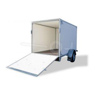 Neergaande achterklep voor Twins Trailers gesloten bakwagen tot 150cm hoogte. Voorzien van gasveren.
