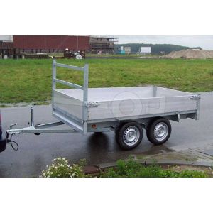 Twins Trailers plateauwagen tandemas 257x157cm 750kg ongeremd