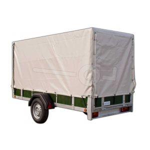 Complete huif van 150 cm hoog voor een Twins Trailers aanhangwagen 257 x 157 cm