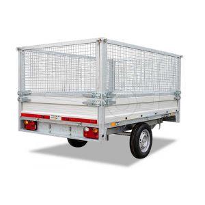 Loofrekken 307x157 (lxb bak) 75cm hoog, voor Twins Trailers plateauwagen of kipper