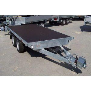Eduard vlakke plateauwagen zonder laadborden 310x160cm laadvloerhoogte 72cm bruto laadvermogen 2500kg