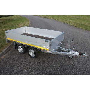 Eduard tandemas multitransporter 260x150cm 40cm aluminium borden 750kg ongeremd laadvloerhoogte 72cm