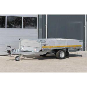 Eduard multitransporter enkelas 260x150cm 30cm aluminium borden 1000kg geremd laadvloerhoogte 56cm