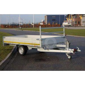 Eduard multitransporter enkelas 310x160cm 30cm aluminium borden 750kg ongeremd laadvloerhoogte 63cm
