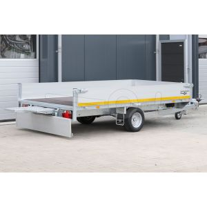 Eduard multitransporter 310x160cm 30cm aluminium borden 1350kg laadvloerhoogte 56cm