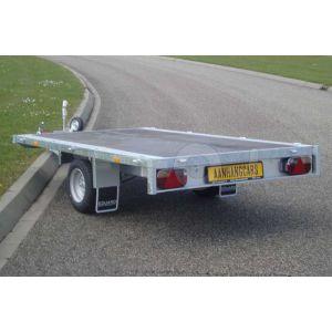 Eduard enkelas multitransporter zonder borden 310x160cm 1350kg lvh 63cm