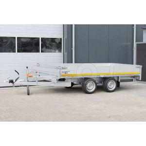 Eduard multitransporter 3118-4-PMB40-200-63, Lxb 310x180cm, Bruto 2000kg (1385kg netto), Lvh 63cm, Alu borden 40cm, Tandemas geremd, Banden 195/50R13, Met oprijplaten en lier.
