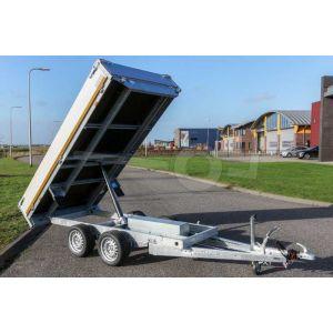 Elektrische kipper aanhangwagen Eduard 310x160cm 750kg ongeremde tandemasser