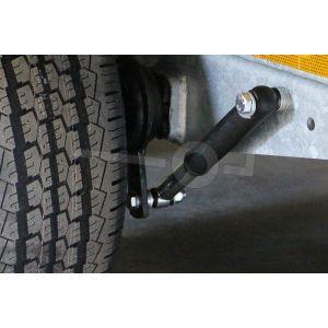 Schokdempers voor tandem-as plateauwagen gemonteerd, ook geschikt voor tempo100 km/u voorbereiding ( excl de fabrieksdocumenten tempo 100)