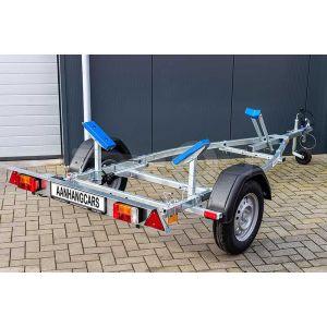 "Rubberboottrailer basic 350x160 (lxb), bruto 450kg (350 netto), met rubberbootpakket, banden 13"", enkelas"