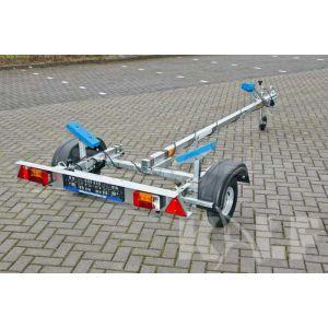 "Motorboottrailer Kalf basic 400x160 (lxb), bruto 450kg (285 netto), met motorbootpakket, banden 13"", enkelas"
