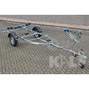 """Sportboottrailer basic 600-40 K kantelbaar 400x160 (lxb), bruto 600kg (450 netto), met glijplanken pakket (ook voor schroefas), banden 13"""", enkelas"""
