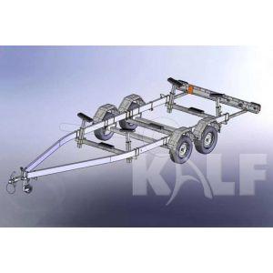 Kalf stallingstrailer voor motorboot Stall 2700 650x200 cm 2700 kg