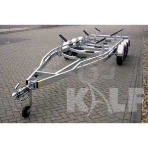Kalf tridemas stallingstrailer voor motorboot 750x220 cm 3900 kg