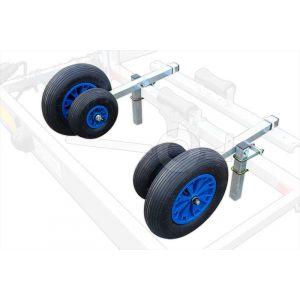 Optionele boeggeleiding 4 wiel centrerend en verstelbaar voor Kalf boottrailers uit de R, M, S en Z series.