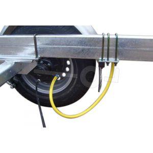 Spoelsysteem voor Kalf geremde tandemas boottrailer