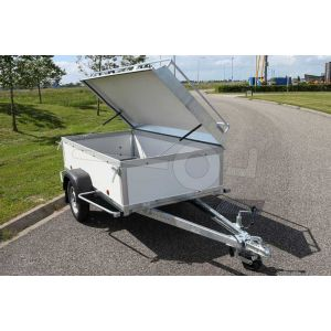 Verhuur bagagewagen, bakafmeting 200x125x60 (lxbxh),, extra dag ((vanaf 2 weken huur mogelijk)