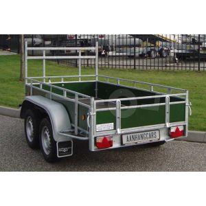 Powertrailer open aanhangwagen tandemas met betonplex borden 200x110 cm 750kg ongeremd