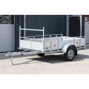 Powertrailer enkelas open bakwagen aluminium 200x100cm 750kg ongeremd