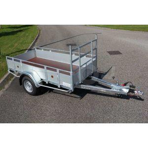 Enkelas aluminium open bakwagen 257x150cm 1350kg