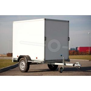 Power Trailer enkelasser gesloten aanhangwagen 200x132x150cm, 750kg, ongeremd.