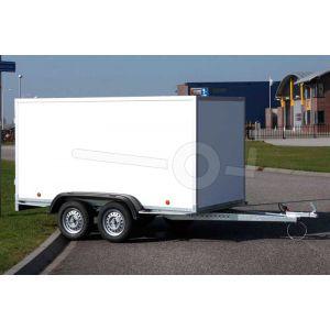 Power Trailer ongeremde tandemas gesloten aanhangwagen, afmeting 225x150x150cm, bruto laadvermogen 750kg