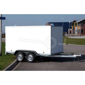 Power Trailer tandemas gesloten aanhangwagen, afmeting 225x125x150cm, bruto laadvermogen 750kg ongeremd
