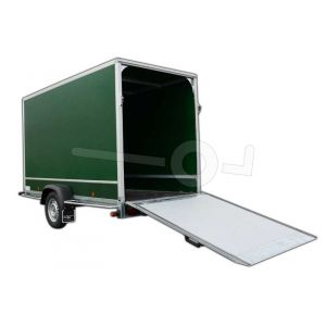 Optionele achterklep 125x125cm in plaats van twee achterdeuren Power Trailer gesloten aanhangwagen