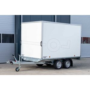 Power Trailer tandemas gesloten plateau aanhangwagen 307x160x1cm 2000kg