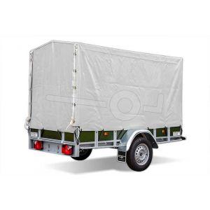 Huif voor Power Trailer aanhangwagen 225 x 132 cm met een hoogte van 130 cm vanaf de laadvloer.