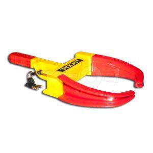 Lokmas wielklem geel / rood voor aanhangwagen en camper