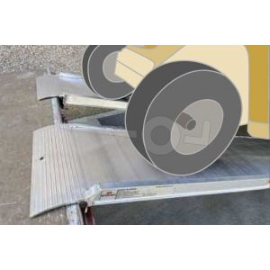 Oprijplaat MPCL065/16 160x50 cm draagvermogen 1500 kg