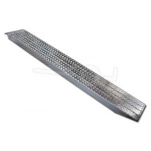 Aluminium oprijplaat Metalmec M120S/3/20 met aluminium loopvlak 200x36cm draagvermogen 6600kg
