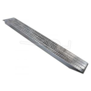 Aluminium oprijplaat Metalmec M120S/3/40 met aluminium loopvlak 400x36cm draagvermogen 3590kg