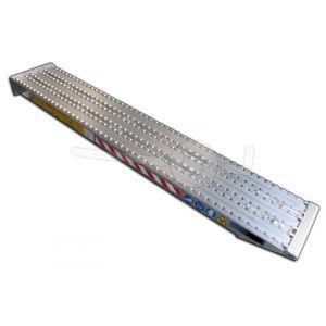 Aluminium oprijplaat Metalmec M105F/390/2000 200x39cm draagvermogen 10750kg