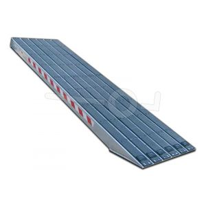 Aluminium oprijplaat Metalmec M120S/3/40 met rubber loopvlak 400x36cm draagvermogen 3590kg