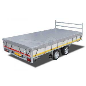 Vlakzeil compleet voor Eduard Trailer plateauwagen of multitransporter 406x200cm, grijs, ongemonteerd