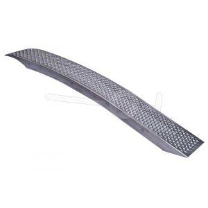Oprijplaat per stuk, lichtgewicht aluminium 150x20, max.draagvermogen 225kg, gebogen uitvoering. Niet geschikt voor rupsvoertuigen