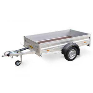 Humbaur H 751611 aluminium open bakwagen 165x110cm 750kg ongeremd