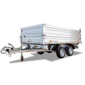 Aluminium opzetborden 35cm hoog voor Humbaur HTK 3-zijdige kipper met bakmaat 363x185cm.