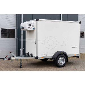 Humbaur koelaanhangwagen met koelaggregaat HK 152614-18PF30-Basic. Afmeting 251x133x168cm bruto laadvermogen 1300kg