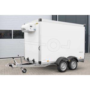 Humbaur tandemas koelwagen HK 253218-20PF30-Basic 318x173x188cm met dubbele afsluitbare achterdeuren.