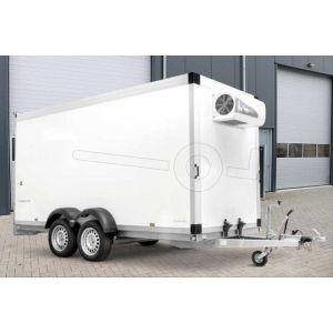Humbaur diepvriesaanhangwagen TK 304218-24PF80 met Govi 2000 P koelaggregaat afmeting 408x163x222cm bruto laadvermogen 3000kg