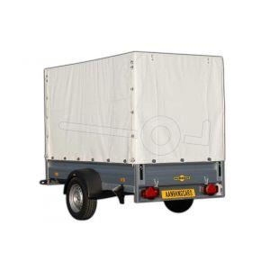 Huif voor Humbaur aluminium aanhangwagen, afmeting 303 x 150 cm met een dakhoogte van 180 cm vanaf de laadvloer.