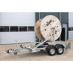 Kabelhaspel aanhangwagen Humbaur KTA 3000 afmeting 220x145x185cm.