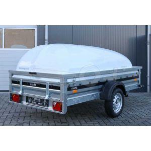 Open aanhangwagen enkelas metalen borden Blyss Maxx 204x110cm 750kg ongeremd