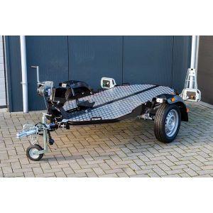 Cochet Uno verlaagbare motortrailer opvouwbaar in de kleur zwart