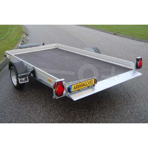 Humbaur hydraulisch zakbare transporter HKT 152515 S, 250x156cm, bruto laadvermogen 1500kg, met elektrische bediening op de dissel